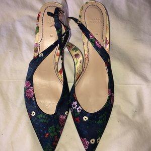 Zara floral sling backs